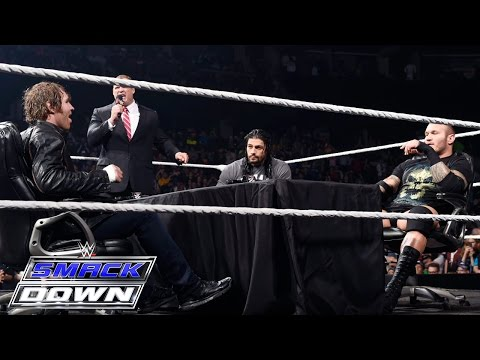 WWE World Heavyweight Championship Fatal 4-Way contract signing: SmackDown, May 7, 2015