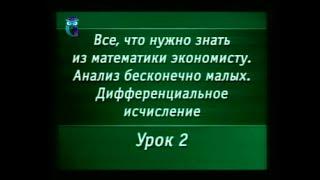 Математика. Урок 4.2. Дифференциальное  исчисление. Предел бесконечной последовательности