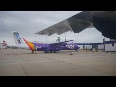 A 10 minute flight on Blueislands ATR Guernsey to Jersey  4K
