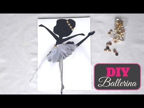 DIY Wall Decoration Ideas | DIY How to make Ballerina Wall Art