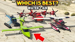 GTA 5 ONLINE : TULA VS SEABREEZE VS SEA SPARROW VS DODO (WHICH IS BEST IN AIR + WATER?)