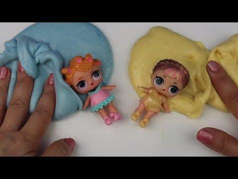 LOL Confetti Pop Bebeklerle Makyajlı Bol Malzemeli Havalı Slime Challenge Ruj vs Far Bidünya Oyuncak