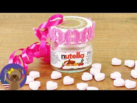 Reusing in DIY | Nutella Jar as a Gift | Mini Nutella