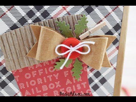 DIY  Christmas Gift Bag created by Becki Adams