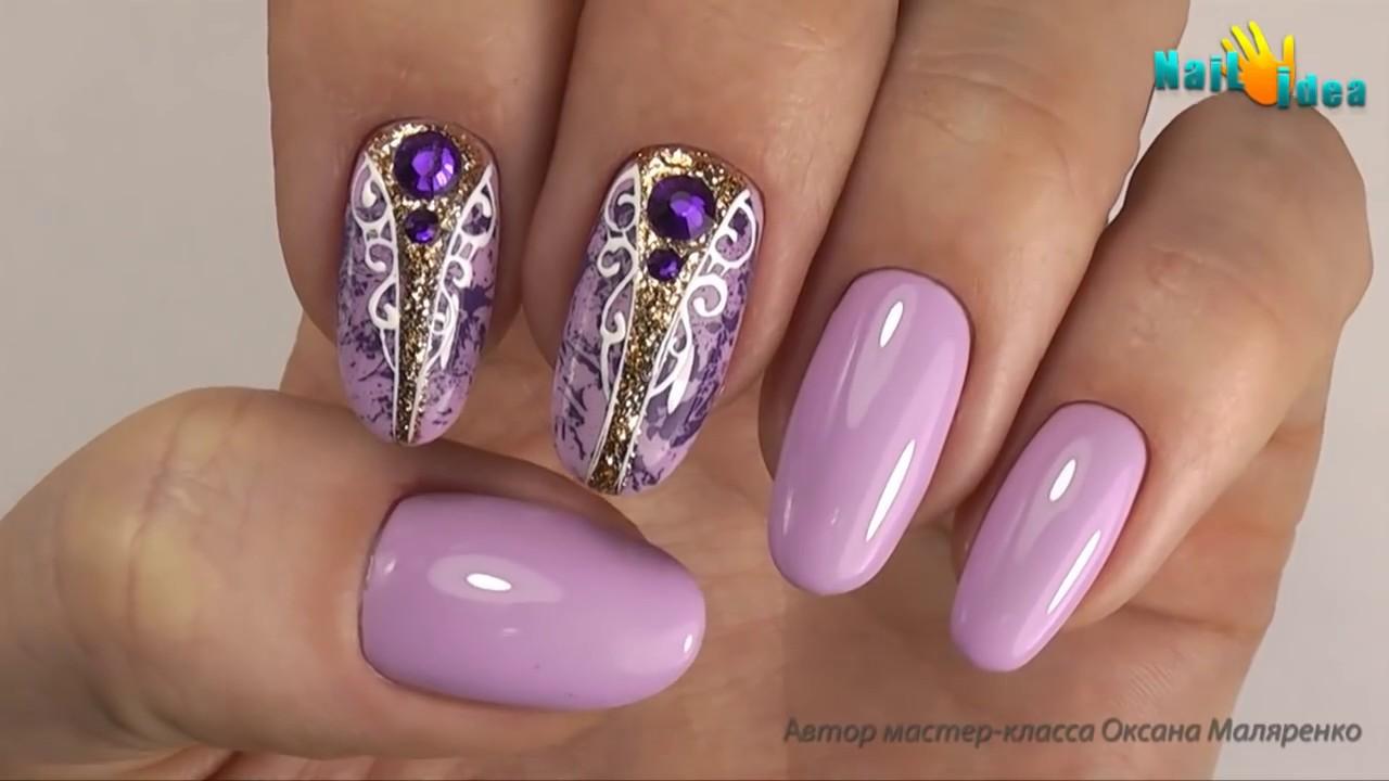 оксана маляренко дизайн ногтей видео уроки 2