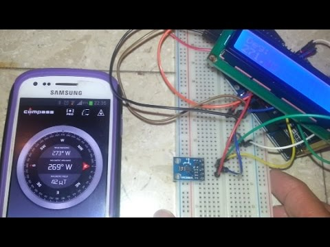 A digital compass : Arduino and Digital Magnetometer HMC5883L