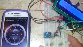 A digital compass : Arduino and Digital Magnetometer HMC5883L