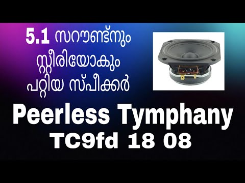 peerless tymphany tc9fd 18 08 , good speaker for surrounds and stereo malayalam