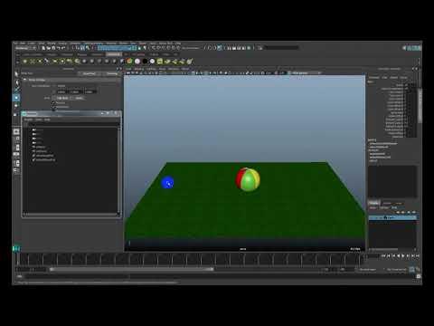Уроки Maya - Анимация мячика