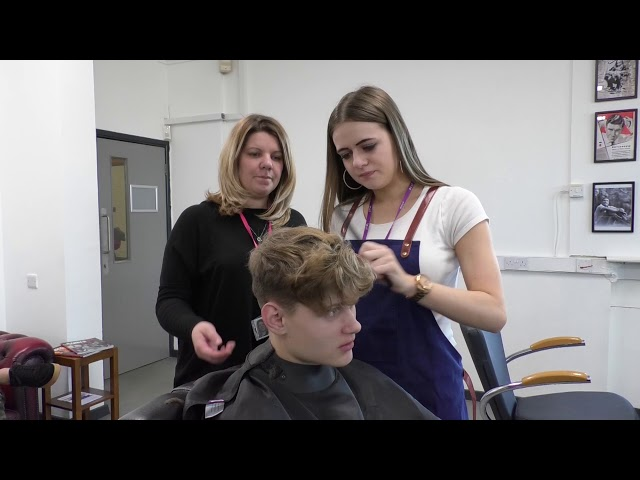 Students Gaining Skills On Barbering Course From Male Grooming Specialist Mike Taylor