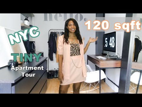 120sqft Tiny / Micro NYC Apartment Tour!  Manhattan Studio in New York!  Knowing Home w/Nyasia Ep 2