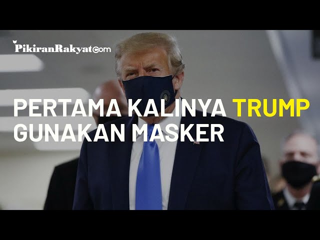 Untuk Pertama Kalinya Gunakan Masker, Terungkap Sudah Alasan Trump Ogah Pakai Masker Selama Ini