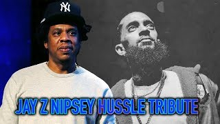JAY-Z Nipsey Hussle Tribute Freestyle LYRICS + VISUALIZED | Webster Hall BSides 2 Performance