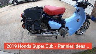 SUPERCUB: 2019 Honda Super Cub C125 - Rear Pannier Ideas, CRG Lane-Splitter Mirrors