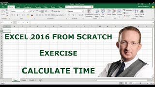 excel 2016 from scratch exercise calculate time differences
