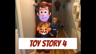 Surprising Our Son With A Toy Story Inflatable