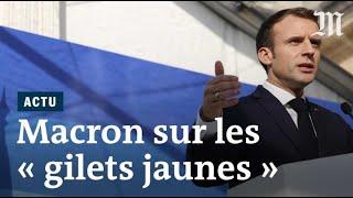 « Gilets jaunes » : Macron veut « transformer les colères en solution»