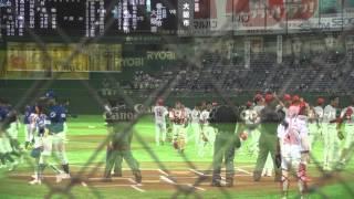 伊藤親子始球式 都市対抗2015