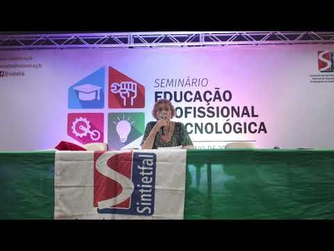 Maria Ciavatta palestra no Seminário EPT do Sintietfal