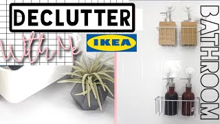 DECLUTTER WITH ME |  IKEA BATHROOM  MINIMALISM 2018