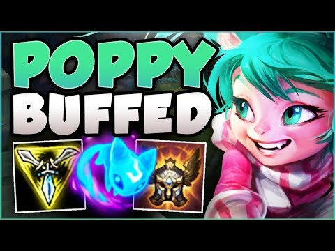 WTF! POPPY NO LONGER A TANK AFTER THESE BUFFS? POPPY SEASON 8 TOP GAMEPLAY! - League of Legends