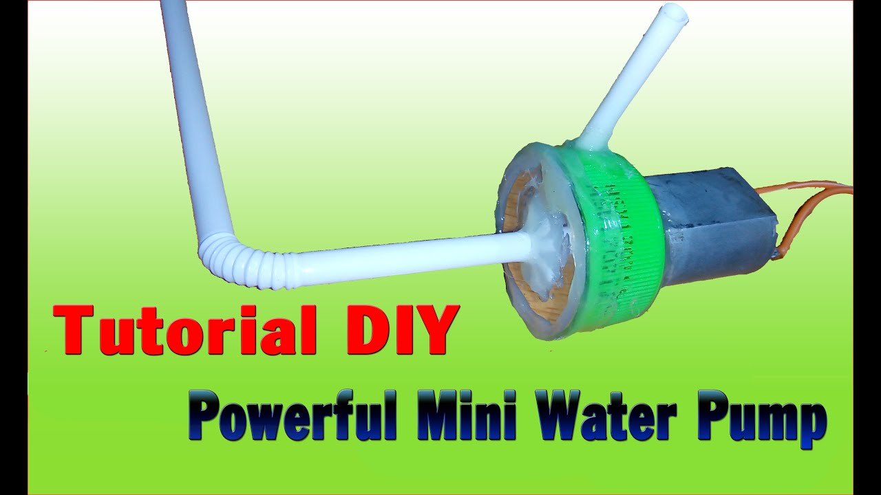 Design Your Own Micro Home Tutorial How To Make Powerful Mini Water Pump Simple
