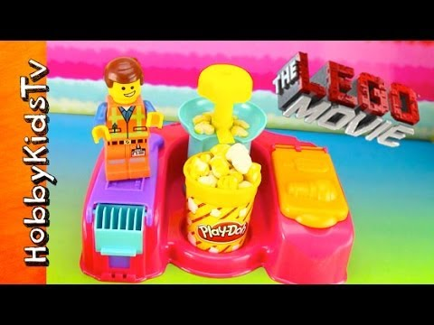 PLAY-DOH Popcorn Maker, Movie Snacks, The LEGO Movie, Emmet [Toy Review] [Box Opening]