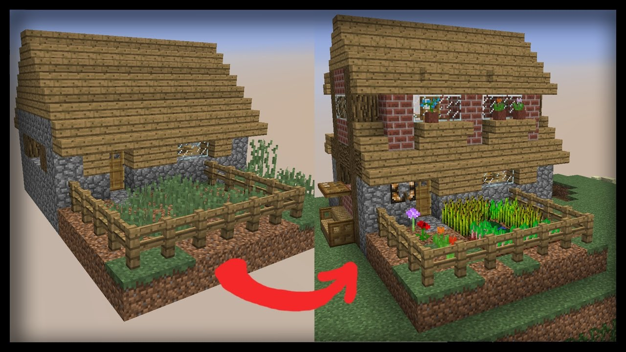 👌 Minecraft: Let's Transform a Villager House!