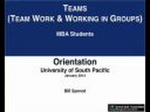 Video - Teams - Team Work & Working In Groups