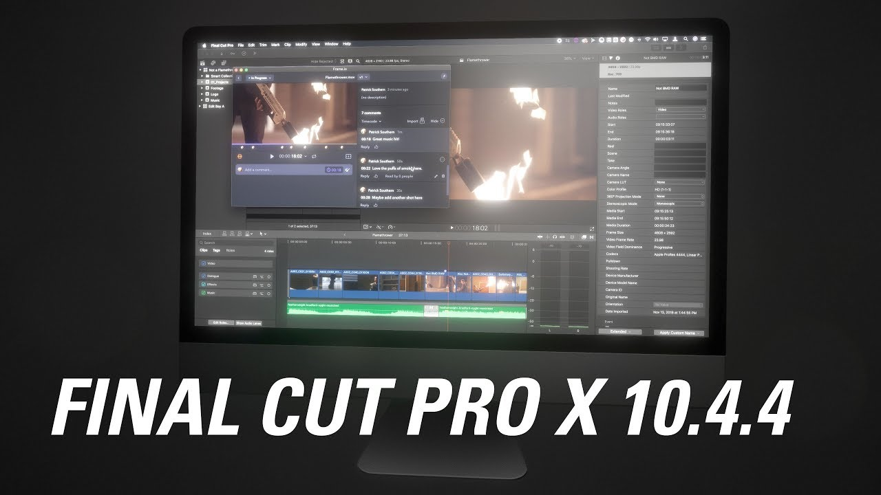 Final Cut Pro X 10.4.4 New Features - YouTube