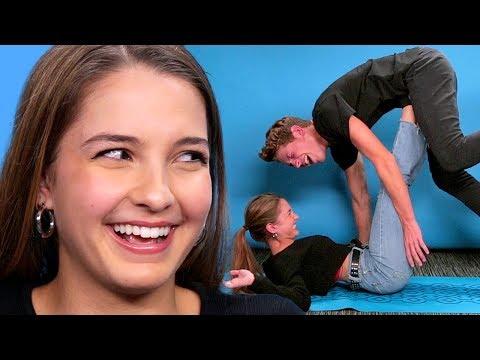 COUPLES YOGA CHALLENGE! | Lexi Rivera VS Ben Azelart