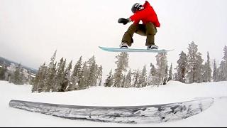 FUN IN FINLAND SNOWBOARDING
