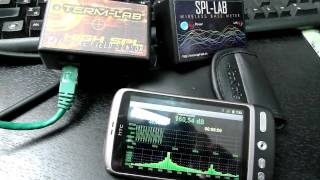 TERM-LAB vs SPL-LAB WIRELESS BASS METER on Android phone