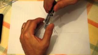 Construir un triángulo a partir de un lado y dos ángulos. Dibujar la circunferencia inscrita