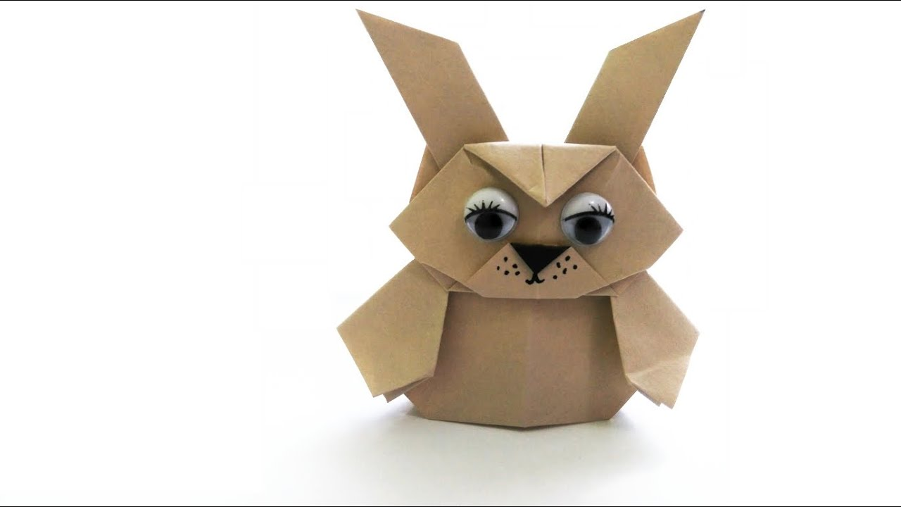 Origami Finger Puppet - Bunny - YouTube