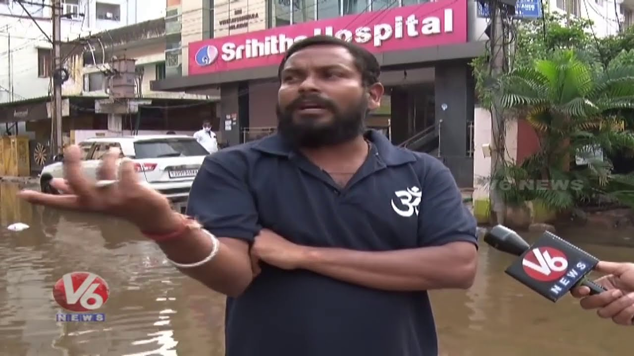 floods in kodandaramnagar,gaddiannaram,telangana,hyderabad