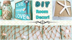 DIY ROOM DECOR! Beach Theme Ideas