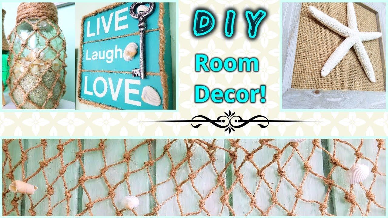 Diy Room Decor Beach Theme Ideas Youtube