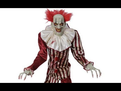 spirit halloween 2017 seasonal visions 7ft evil clown leaked video - Spirit Halloween Animatronics