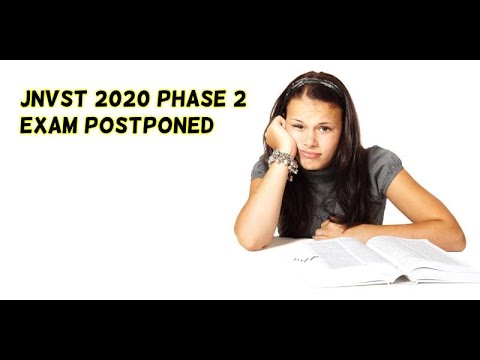 JNVST 2020 Phase 2 Exam Postponed - Will Result Also Be Delayed?