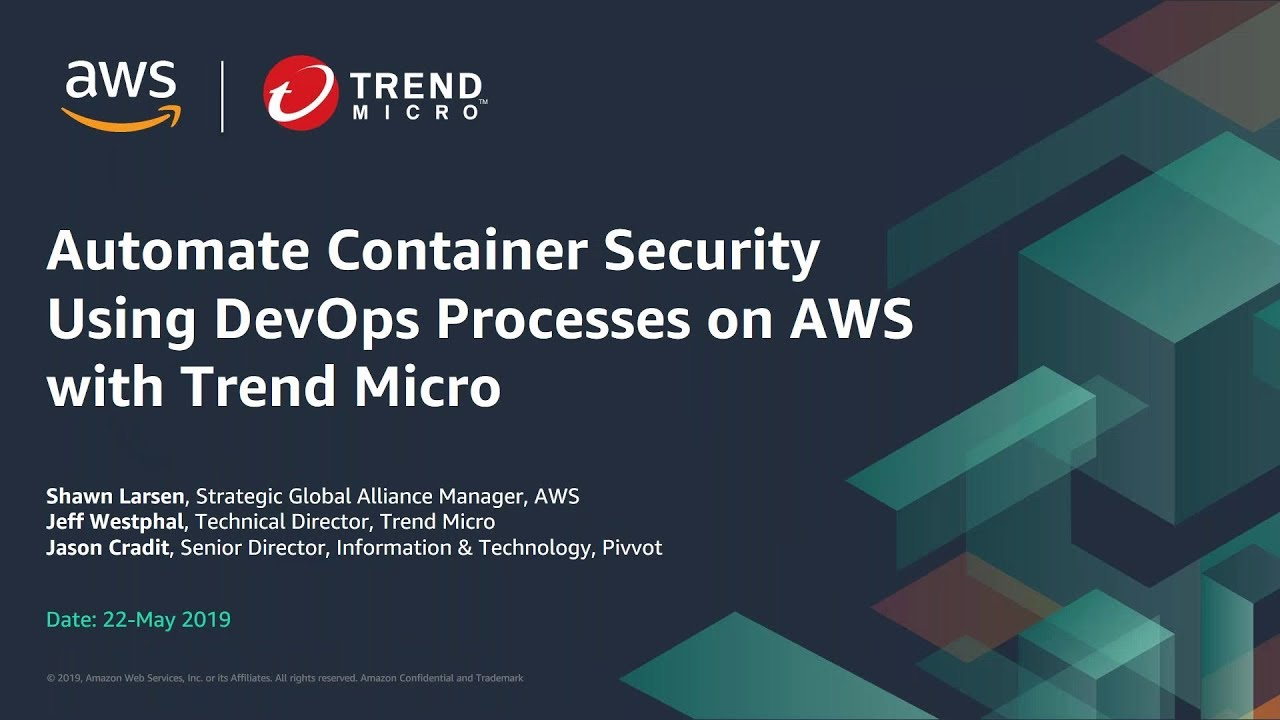 Automate Container Security Using DevOps Processes on AWS with Trend Micro