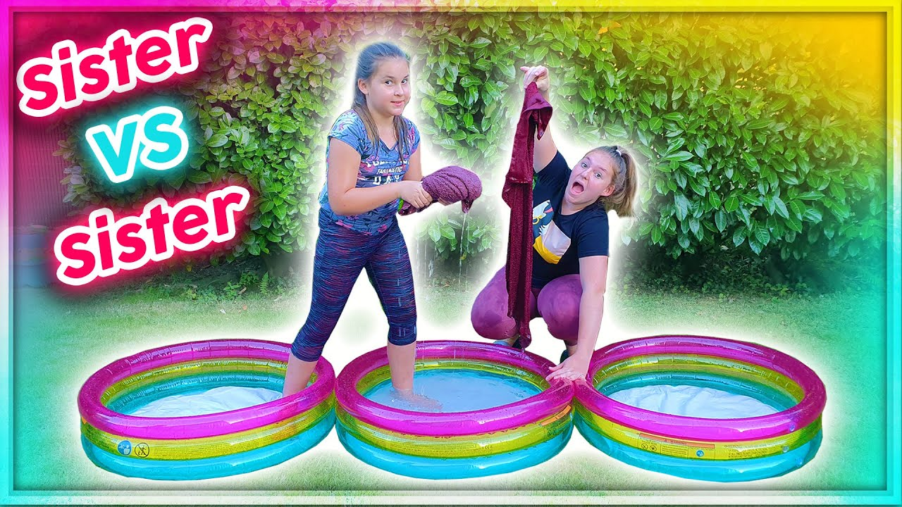 Pool Challenge ou Défi Piscine Sister Vs Sister !