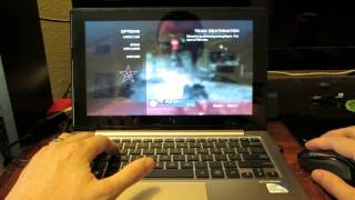 Playing MW3 on my ASUS X202E-DB21T 11.6-Inch Laptop