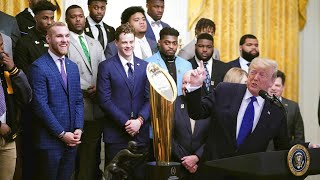 WATCH LIVE: Trump hosts 2019 College Football National Champions LSU Tigers at White House