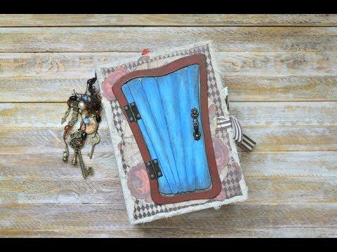 """Junk Journals Flip Through \ """"Welcome to Wonderland"""" (Alice in Wonderland) (sold)"""