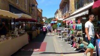 Saint Cyprien, Dordogne, Frankrijk, weekmarkt juni 2015