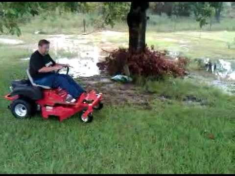 First Day With A Z Turn Lawnmower Wreck Fail (very Funny)