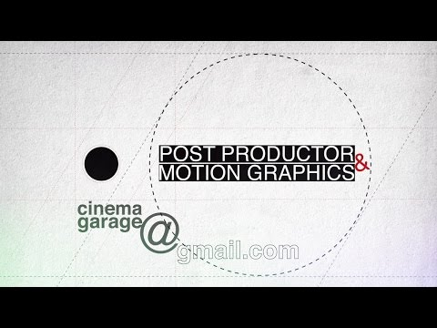 Santiago Herrera Garcia Post productor & Motion Graphics  Reel