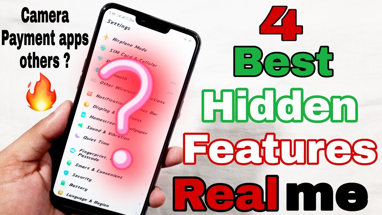 [Hindi] 4 Best Hidden Features in Realme 2   Camera features   Fast access  payment apps   Camera Tip by WepClick