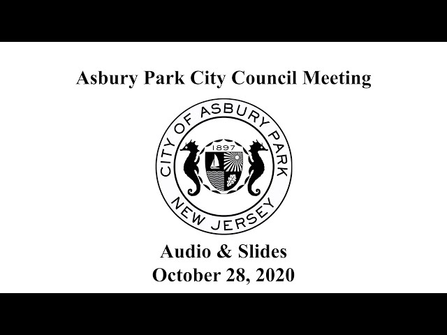 Asbury Park City Council Meeting - October 28, 2020